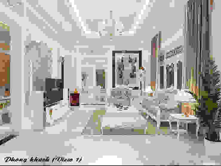 Biệt thự Trưng Nữ Vương - Đà Nẵng Phòng khách phong cách kinh điển bởi Công ty Kiến trúc Á Âu Kinh điển
