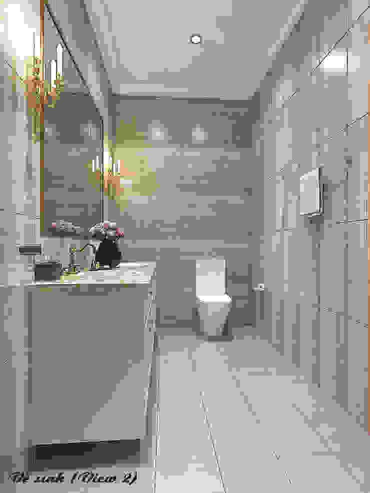Biệt thự Trưng Nữ Vương – Đà Nẵng Phòng tắm phong cách kinh điển bởi Công ty Kiến trúc Á Âu Kinh điển