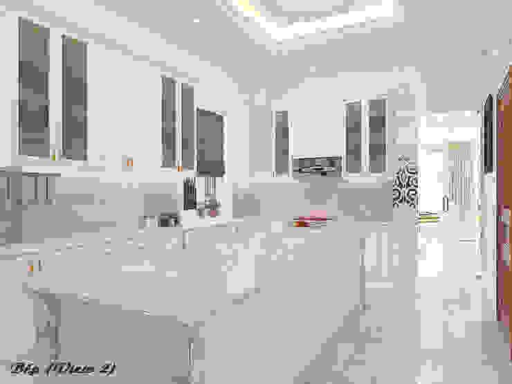 Biệt thự Trưng Nữ Vương – Đà Nẵng Nhà bếp phong cách kinh điển bởi Công ty Kiến trúc Á Âu Kinh điển