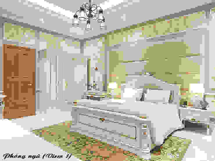 Biệt thự Trưng Nữ Vương – Đà Nẵng Phòng ngủ phong cách kinh điển bởi Công ty Kiến trúc Á Âu Kinh điển