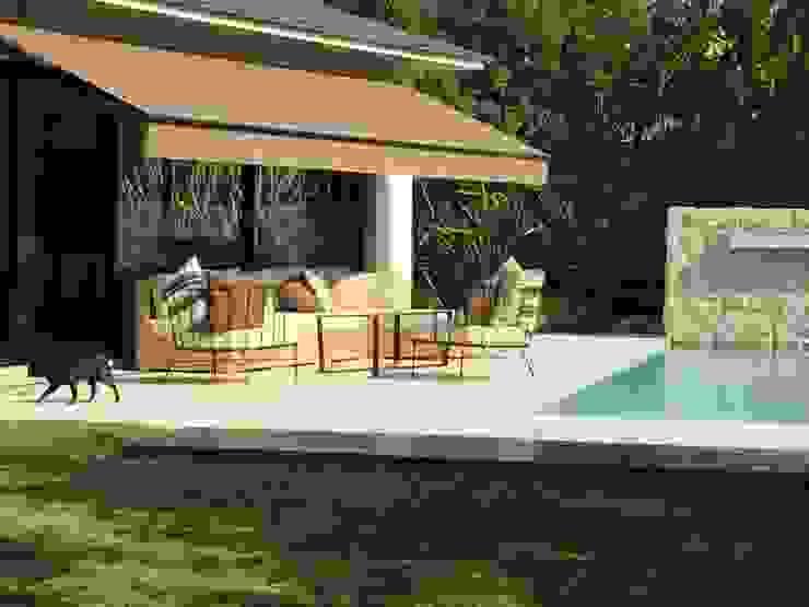 picina: Terrazas de estilo  por 72 diseño exterior,Moderno Madera maciza Multicolor
