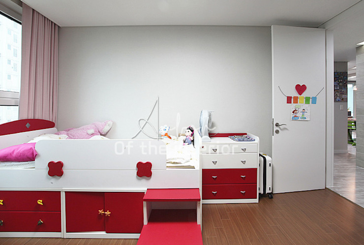 호텔객실같이 깔끔한 아파트 인테리어_47평대 모던스타일 미디어 룸 by 디자인 아버 모던