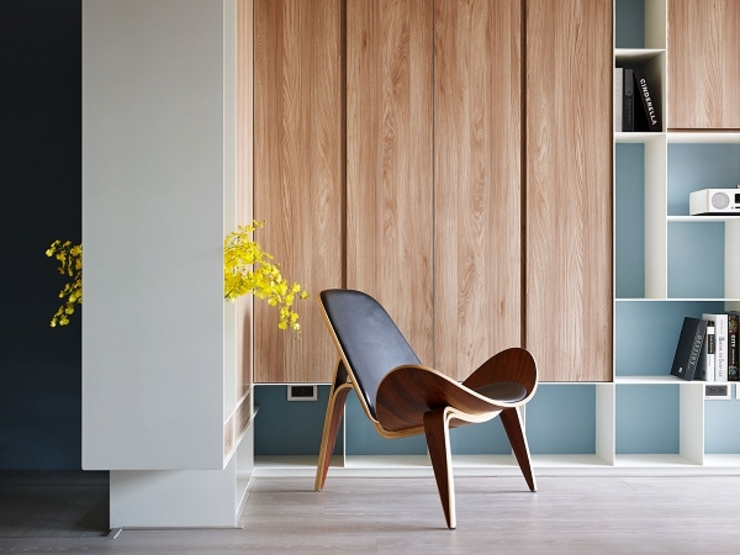[HOME] Arching Design – Hue Yu Community 모던스타일 거실 by KD Panels 모던 우드 우드 그레인