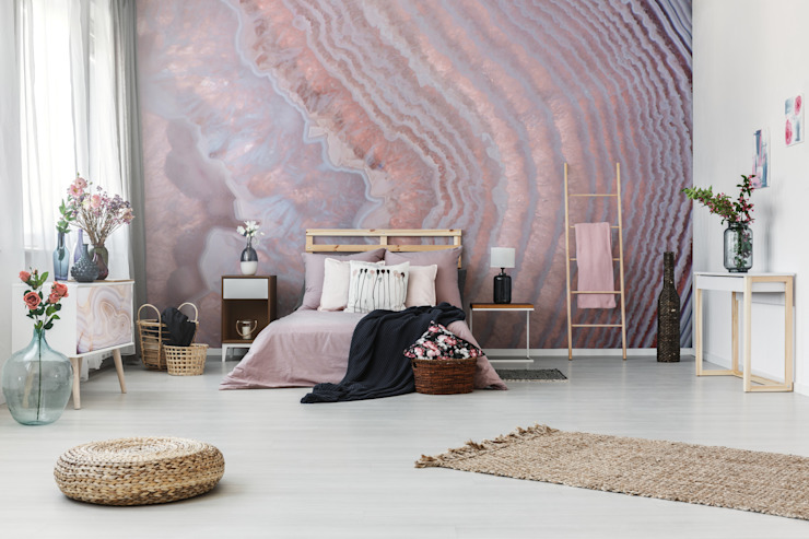 The Pink Mother-of-Pearl Pixers Minimalist bedroom Pink