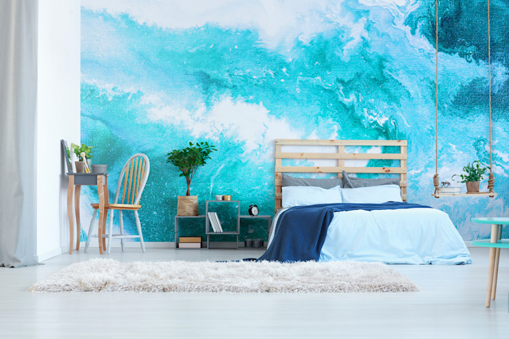 Heavenly Ocean Pixers Modern style bedroom Blue