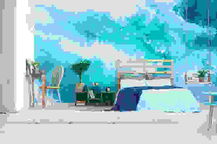 Heavenly Ocean Modern Bedroom by Pixers Modern