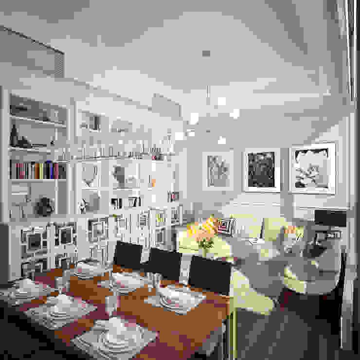 The Hudson 浚峯 | Kennedy Town 堅尼地城 Nelson W Design Salones clásicos Madera Blanco
