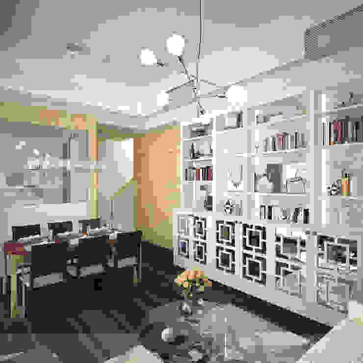 The Hudson 浚峯 | Kennedy Town 堅尼地城 Nelson W Design Salones clásicos Blanco