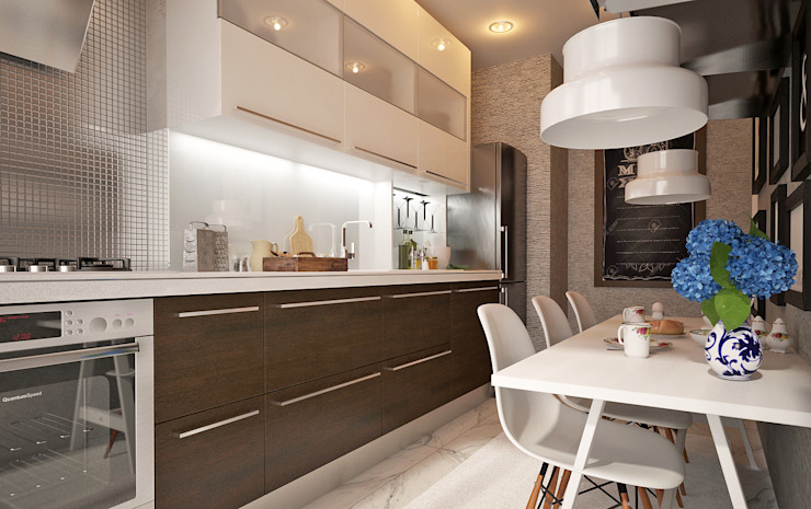 50GR Mimarlık – halkalı_örnek daire:  tarz Mutfak, Modern