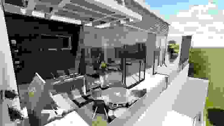 Balcones y terrazas de estilo moderno de homify Moderno Madera Acabado en madera
