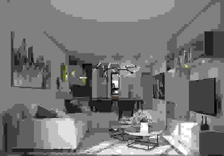 Vista Sala y Comedor Livings modernos: Ideas, imágenes y decoración de Fi Arquitectos Moderno Cerámico