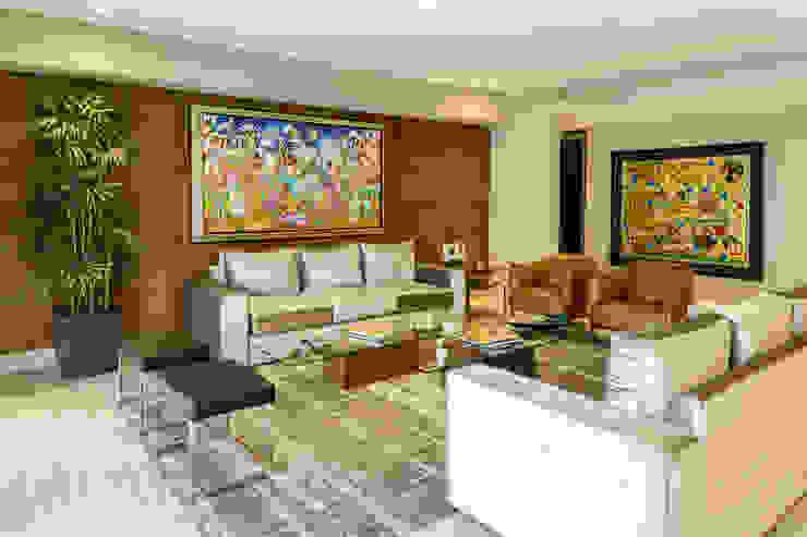 Vista Sala y Comedor Livings de estilo moderno de Fi Arquitectos Moderno Madera Acabado en madera