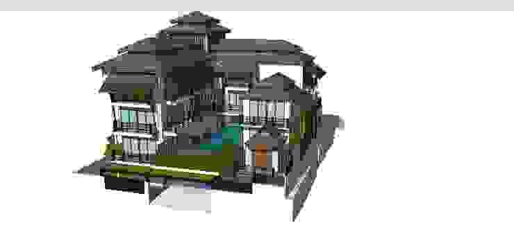 โครงการบ้าน 5 ชั้น คุณ นราภรณ์ โดย Identity Design & Architecture Part.,Ltd ผสมผสาน