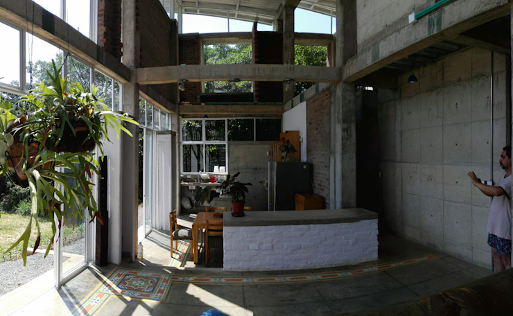 Vivienda Campestre Sostenible 1 – 2016 Cocinas de estilo minimalista de PILO Arquitectura Minimalista
