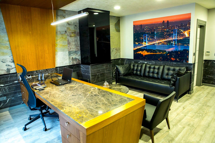 Espaces de bureaux minimalistes par DerganÇARPAR Mimarlık Minimaliste