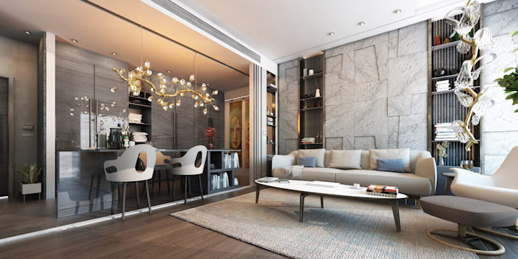El Daou Apartment Modern living room by GOWS architects Modern