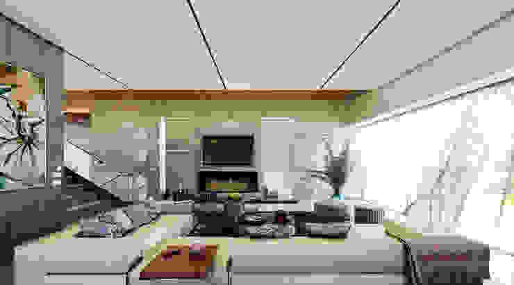 MAAB Villa Minimalist living room by GOWS architects Minimalist Marble