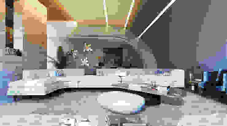 Phòng khách phong cách tối giản bởi GOWS architects Tối giản