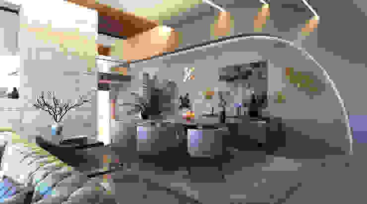 Phòng ăn phong cách tối giản bởi GOWS architects Tối giản