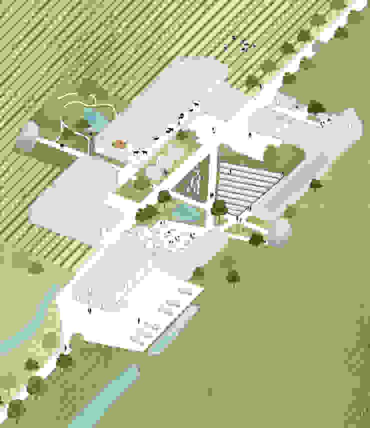 Binnenplaats met nieuwe bebouwing van Kevin Veenhuizen Architects