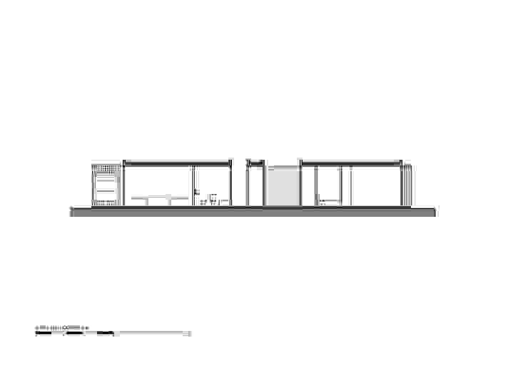 Corte A Casas modernas: Ideas, imágenes y decoración de Luciano Kruk arquitectos Moderno
