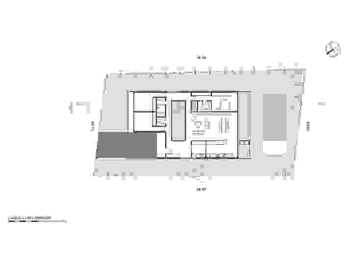 Implantación: Casas de estilo  por Luciano Kruk arquitectos,