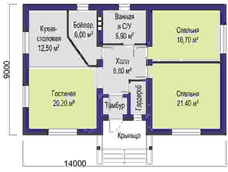 Fit (Проект 1-этажного дома для жизни на природе!) Гостиная в классическом стиле от Архитектурно-творческая мастерская 'M-FRESH' Классический