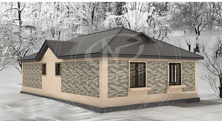 Fit (Проект 1-этажного дома для жизни на природе!) от Архитектурно-творческая мастерская 'M-FRESH' Классический