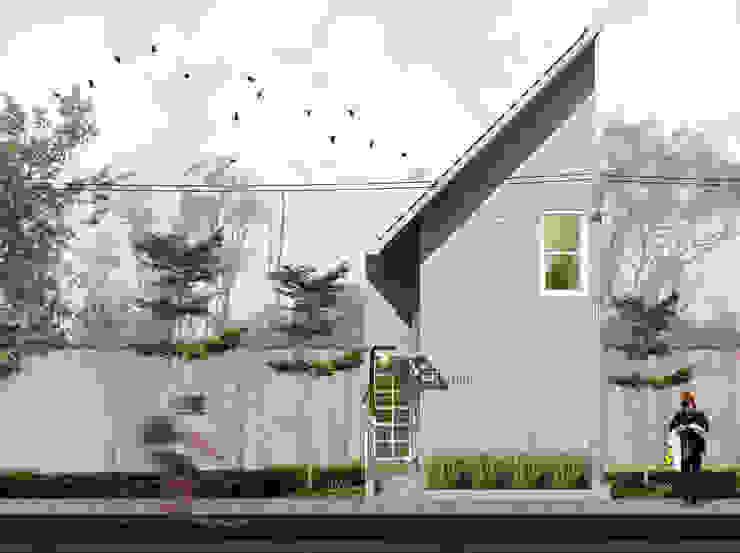 Tampak Depan Bangunan: Rumah tinggal oleh SODA Indonesia, Modern Beton