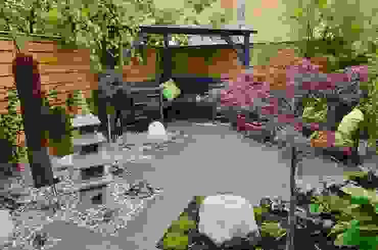 Temple Garden Jardines asiáticos de Borrowed Space Asiático