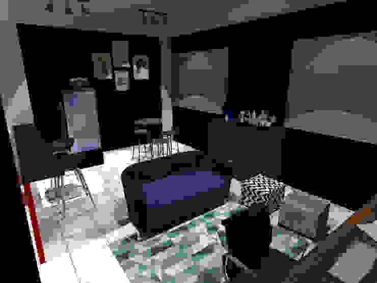 Sala e Bar:  industrial por Escritório 2B - Arquitetura e engenharia,Industrial