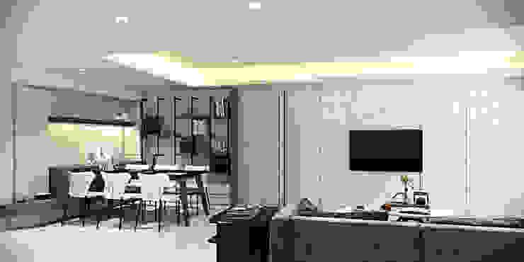 棠豐室內裝修設計工程有限公司 Moderne Wohnzimmer