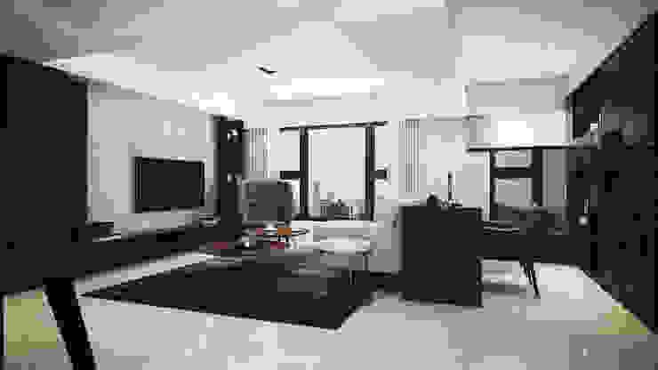 水..森..林 现代客厅設計點子、靈感 & 圖片 根據 棠豐室內裝修設計工程有限公司 現代風