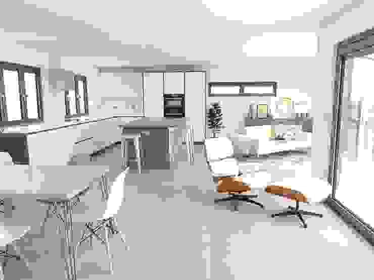 Mid Century Modern Show Home Кухня в стиле модерн от THE FRESH INTERIOR COMPANY Модерн