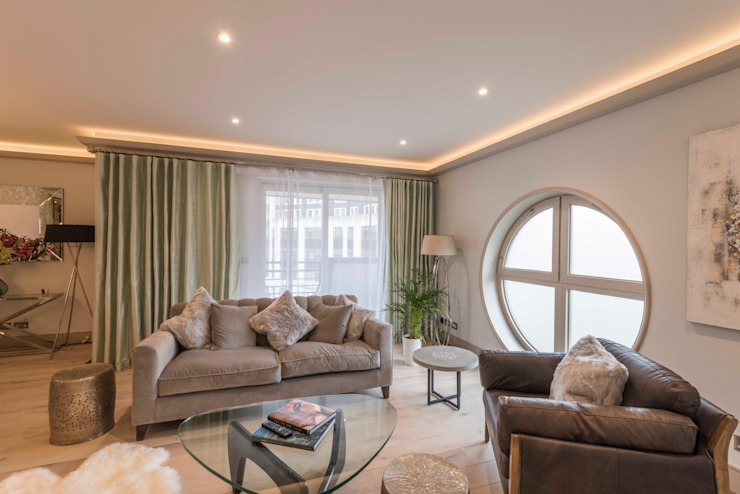 Living Room Modern living room by Prestige Architects By Marco Braghiroli Modern