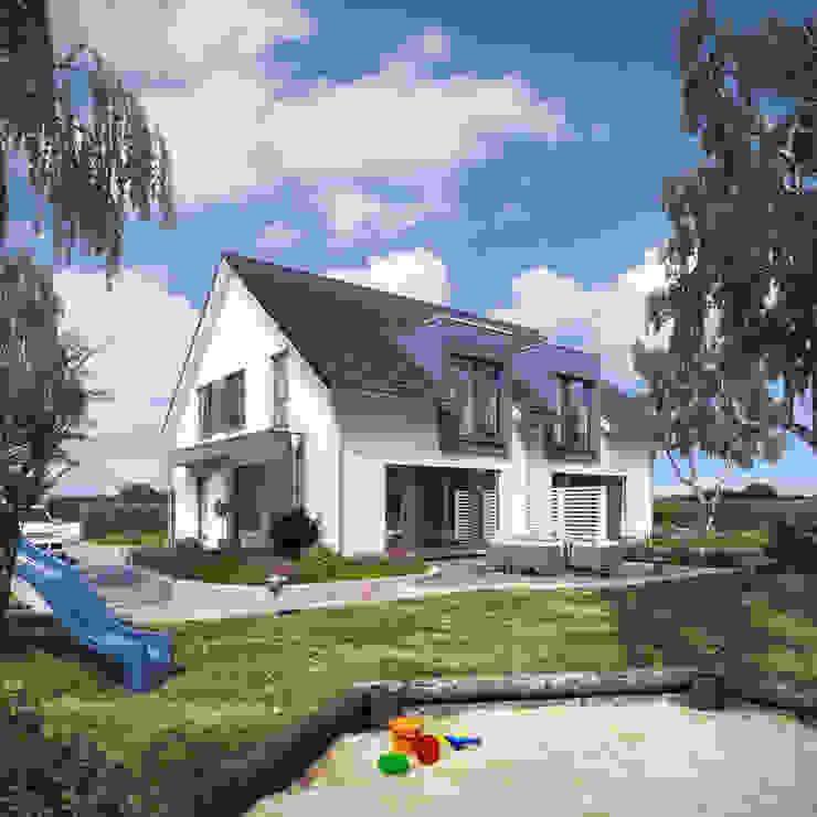 Aussenaufnahme Solution 242 V3: modern  von Living Fertighaus GmbH,Modern
