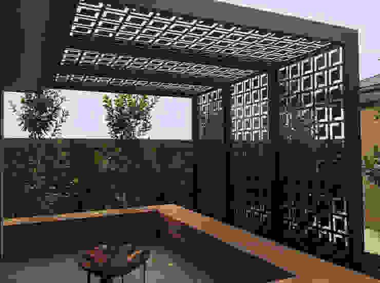 Pergolado Decorativo em Metal Arte Jardins de inverno modernos por HS Precisão - Metal Design Moderno Ferro/Aço