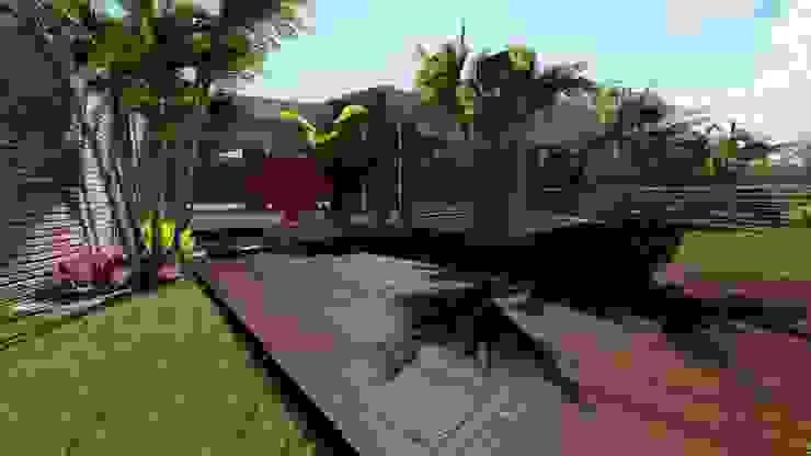 Balcones y terrazas de estilo rústico de homify Rústico Madera Acabado en madera