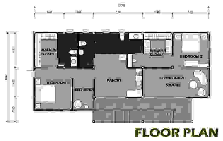 บ้านพักสไตล์สตูดิโอ ยกพื้นสูง TYPE A โดย PRECIO HOUSE