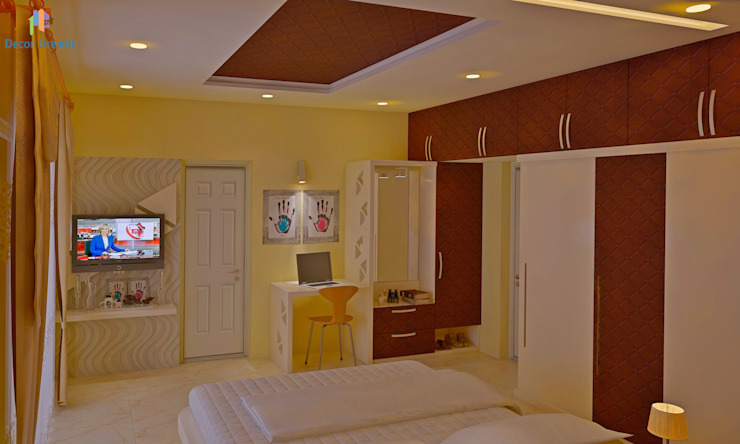 Sobha City, 3 BHK - Mr. Agrawal Modern style bedroom by DECOR DREAMS Modern