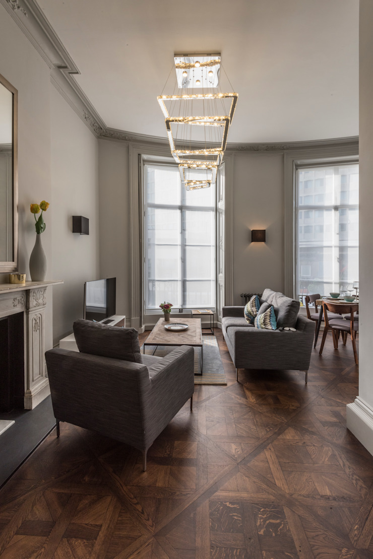 Bachelor Pad - Hyde Park Prestige Architects By Marco Braghiroli Salas de estilo clásico
