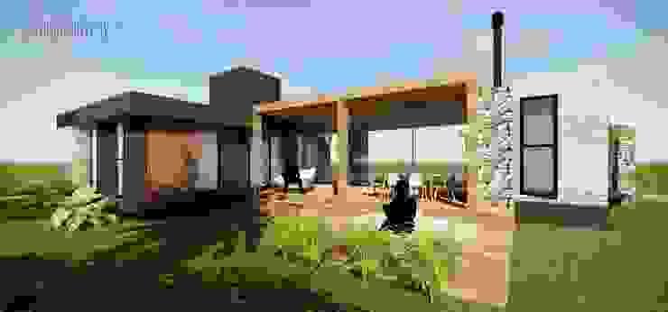 studio vert arquitetura Modern houses