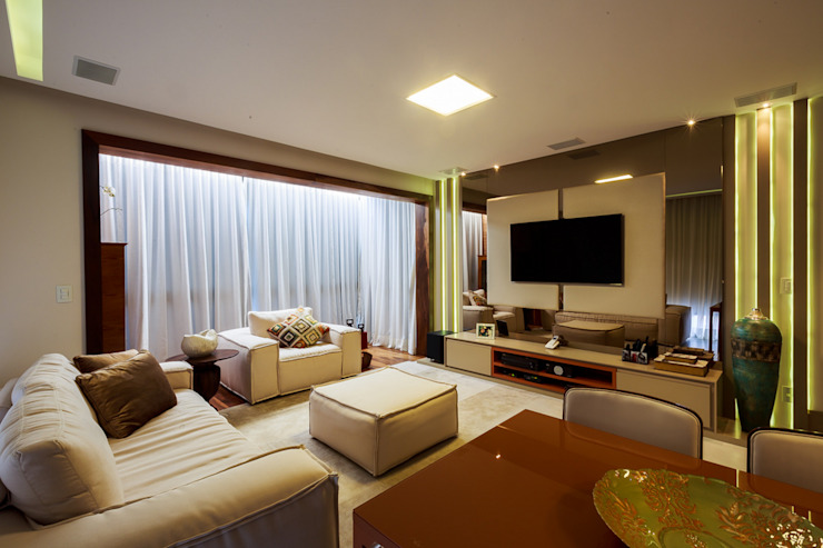 COBERTURA ACONCHEGANTE Salas de estar modernas por studio vert arquitetura Moderno