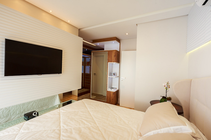 studio vert arquitetura Modern style bedroom