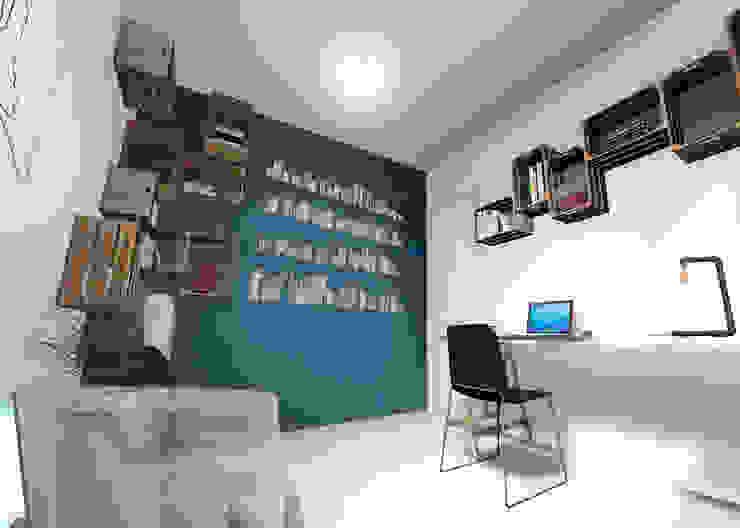 Concurso Meu Decorado Escritórios minimalistas por Escaleno Arquitetos Associados Minimalista