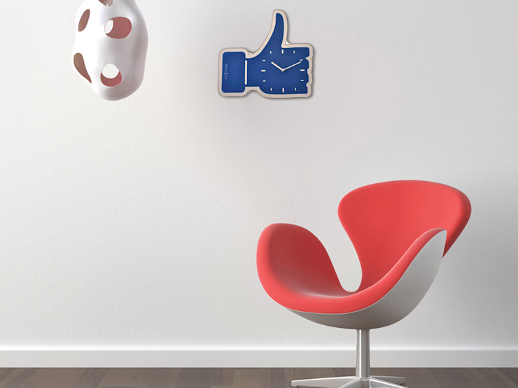 Nextime Thumbs Up Clock: modern  by Just For Clocks,Modern Glass
