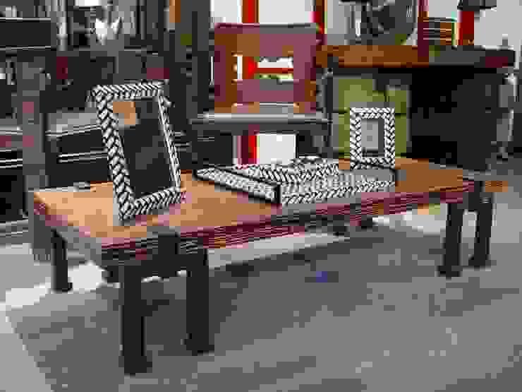 LUMI 客廳邊桌與托盤 木頭 Wood effect
