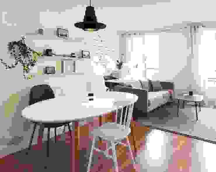 3 pièces - Fontenay-sous-Bois: Salle à manger de style  par Sandrine Carré, Scandinave