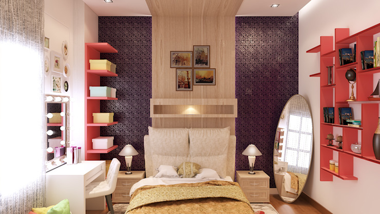 The Jasmine Residence Modern style bedroom by Belal Samman Architects Modern