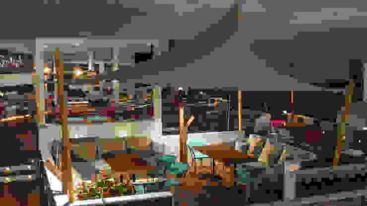 Espacios comerciales de estilo mediterráneo de D-Studios Mediterráneo